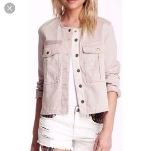 Free People Distressed Military Jacket Size small